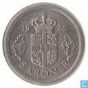 Danemark 5 kroner 1976
