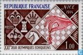 Timbres-poste - France [FRA] - Jeux olympiques échiquéens