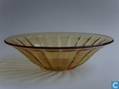Glas / Kristall - Kristalunie - Bambusa schaal amber