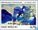 Timbres-poste - France [FRA] - Tableau Zao Wou-Ki