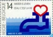 Postage Stamps - Belgium [BEL] - Nat. Me. Water 1915-1990