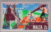Timbres-poste - Malte - Développement économique