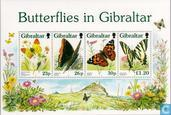 Postage Stamps - Gibraltar - Butterflies