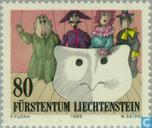 Postzegels - Liechtenstein - Theater