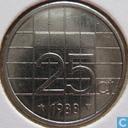 Monnaies - Pays-Bas - Pays-Bas 25 cents 1988