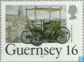 Timbres-poste - Guernesey - Les voitures classiques