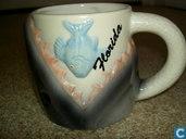 Keramik - Milch Tasse - Becher mit Ohr