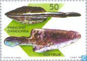 Briefmarken - Andorra - Spanisch - Prähistorische Andorra