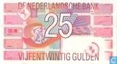 Banknotes - Computer ontwerp - 25 guilder Netherlands 1989