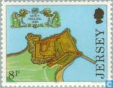 Postage Stamps - Jersey - Fortresses