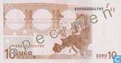 Bankbiljetten - Eurozone - 2002 Dated 'Signature J.C. Trichet' Issue - Eurozone 10 Euro (Specimen)