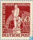 Postzegels - Berlijn - 75 jaar UPU
