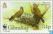 Postage Stamps - Gibraltar - WWF-Red Kite