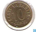 Monnaies - Estonie - Estonie 10 senti 1994