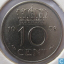 Coins - the Netherlands - Netherlands 10 cents 1958