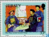 Postzegels - Jersey - Mesny, William