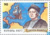 Postage Stamps - Greece - Europe – Discovery of America