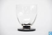Glas / kristal - Kristalunie - Pluvius Waterglas blank-zwart
