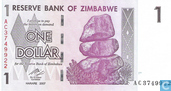 Billets de banque - Reserve Bank of Zimbabwe - Zimbabwe 1 Dollar