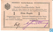 Banknotes - Deutsch Ost-Afrikanische Bank - German East Africa 1 Rupie