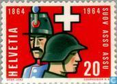 Postage Stamps - Switzerland [CHE] - Swiss union commissioned officers 100 years