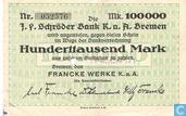 Banknoten  - Bremen - Francke Werke - Bremen 100.000 Mark