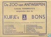 Bandes dessinées - Kuifjesbon producten - De Antwerpse Dierentuin (2° omslag)