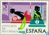 Postage Stamps - Spain [ESP] - Safety in traffic