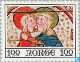 Postage Stamps - Norway - 100 Multicolor
