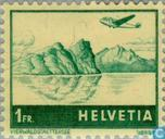Postage Stamps - Switzerland [CHE] - Airplane above landscape