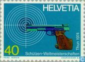 Postage Stamps - Switzerland [CHE] - World Cup Shooting