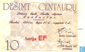 Banknotes - Sportgames 27 juli - 4 augustus 1991 - Lithuania 10 Centaurμ