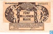 Bayern 5 Miljoen Mark 1923