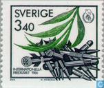 Timbres-poste - Suède [SWE] - 340 vert / noir