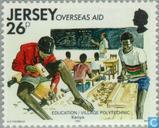 Postzegels - Jersey - Ontwikkelingshulp