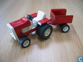 Modellautos - Tonka - Tiny Tonka red tractor with trailer