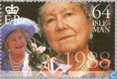 Postzegels - Man - Queen Mother- 100e verjaardag