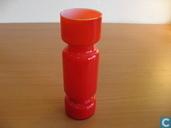 Glass / crystal - Vase - Oranje vaas