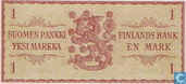 "Billets de banque - Finlande - 1963 Dated Issue ""Without Litt."" - Finlande 1 Markka 1963"