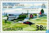 Postage Stamps - Gibraltar - 80 years RAF