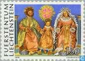 Briefmarken - Liechtenstein - Wasfiguren