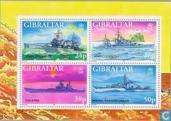 Timbres-poste - Gibraltar - Navires de guerre la Seconde Guerre mondiale