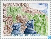 Postage Stamps - Andorra - French - Tribunal Visura