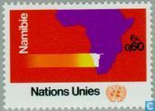 Postage Stamps - United Nations - Geneva - Help for Namibia