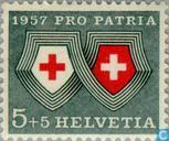 Postage Stamps - Switzerland [CHE] - Weapons and Switzerland Red Cross