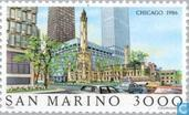 Postage Stamps - San Marino - Famous cities-Chicago