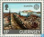 Timbres-poste - Guernesey - Europe – Le génie humain