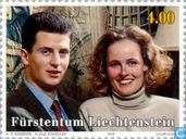 Postage Stamps - Liechtenstein - Hereditary Prince Alois and Sophie-Marriage