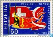 Postage Stamps - Switzerland [CHE] - Arrival Geneva Switzerland 150 years