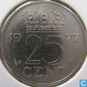 Coins - the Netherlands - Netherlands 25 cents 1977